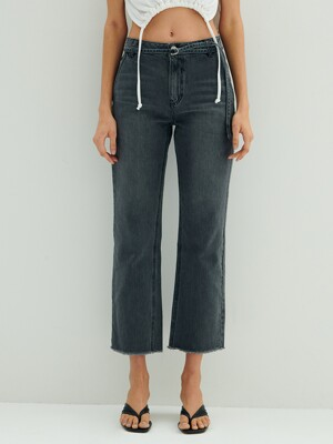 Mid-rise Regular Belted Jeans_L.grey