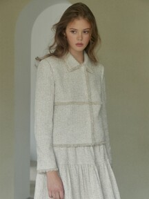 [EXCLUSIVE] Fringed tweed  set-up