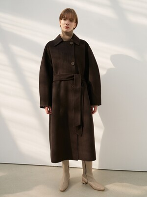 CASHMERE SOUTIEN COAT [HAND MADE] BROWN