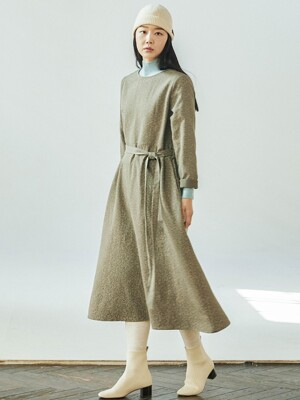 Double Gauze Olive Dress