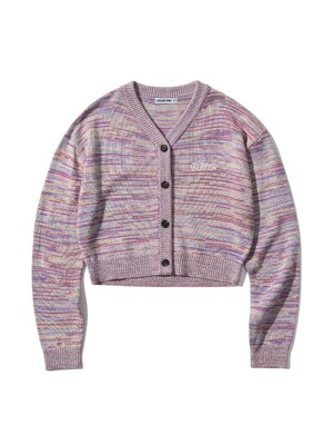 MULTI COLOR KNIT CARDIGAN [PURPLE]