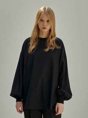 PHILIP LOOSE FIT BLOUSE TSHIRT_BLACK