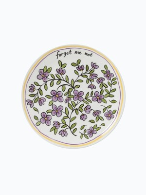 forget me not  plate