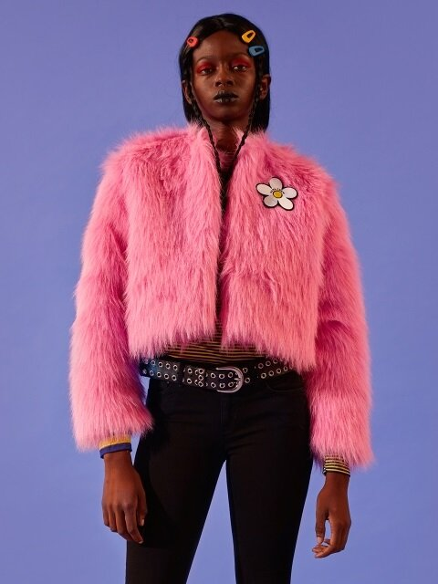 DAISY FUR JACKET [PINK]