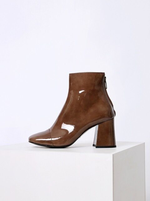 13ed37d2b PATENT ANKLE BOOTS - CAMEL. MENODEMOSSO