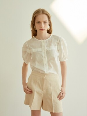 PINTUCK BLOUSE_ WHITE