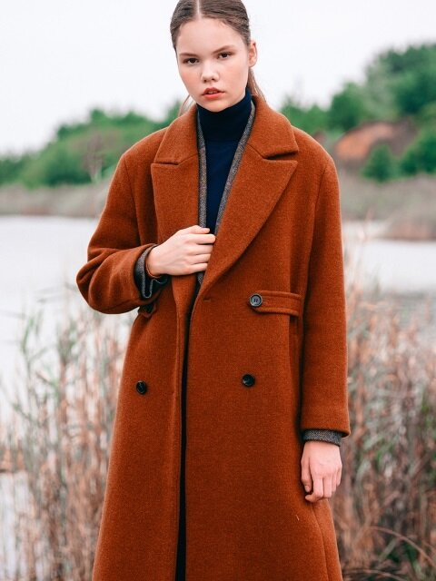 Waistline Point WOOL Double Coat