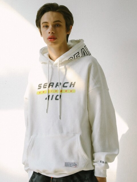 UNISEX ORDINARY OVER HOODIE_WHITE