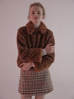 MGMG BOA FUR JACKET_BROWN