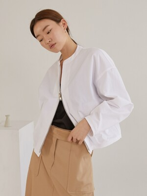 Tidy minimal jacket_White