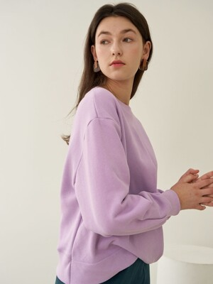 CURVED SWEATSHIRT VIOLET