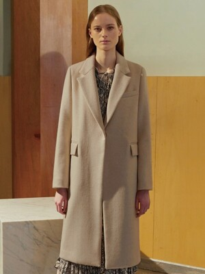 (HELEN) THREE COLORS CASHMERE COAT_BE