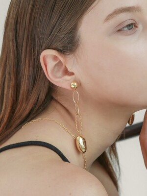 gold party `drop` earring