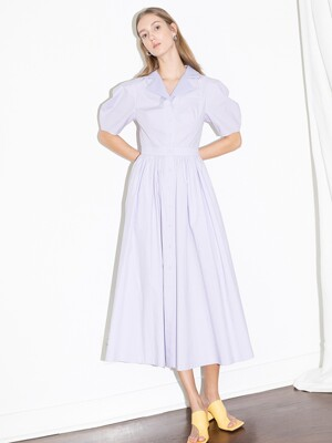 [20SS] HOLLYWOOD shirred waist detail dress (Lilac)
