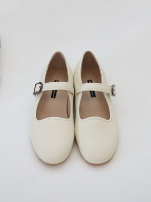 wave maryjane flat shoes_ivory_20504