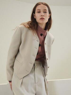 SOFTIES WOOL JACKET [KHAKI BEIGE]
