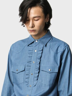 western frilled shirts[blue(MAN)]_UTS-FS21