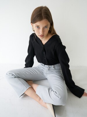 21' Spring_Black Sailer Blouse