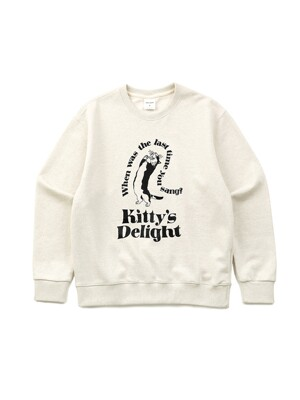 Kitty's delight Sweat shirts oatmeal