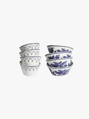 Heritage Blue Bird Rice & Soup bowl SET