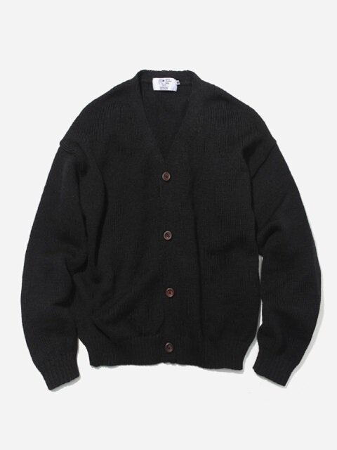 OVERSIZED CARDIGAN JET BLACK