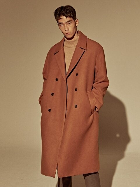 WOOL OVER-FIT DOUBLE COAT_CAMEL