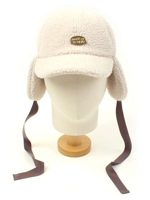 Ivory Fleece Ear Flap Cap 후리스귀달이모자
