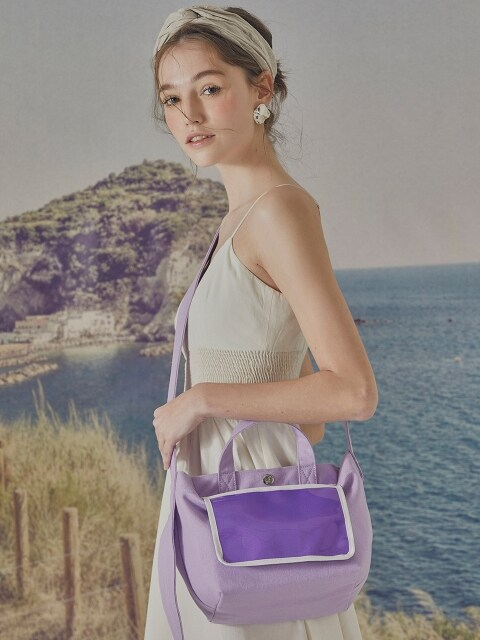 POST Canvas 2way Bag (M) Violet