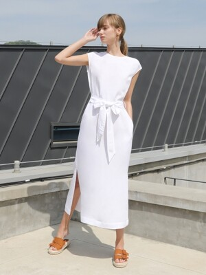 Linen Belted One-piece_Ivory