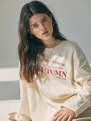 ES AUTUMN T-SHIRT(IVORY)
