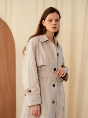OVERSIZE LONG TRENCH COAT BEIGE AETR0E001I2