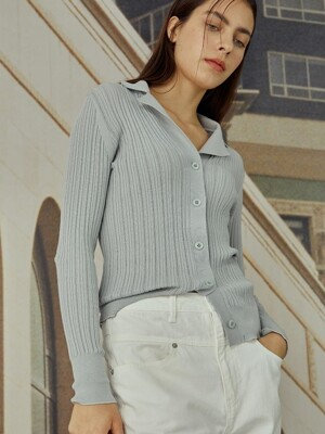 [EXCLUSIVE] Open collar knit_2color (SK0SP025/SK0MP025)