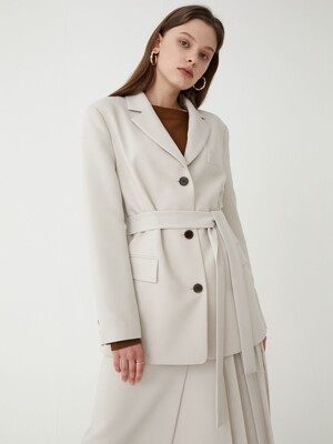 Belted three button jacket SW0SJ006-90