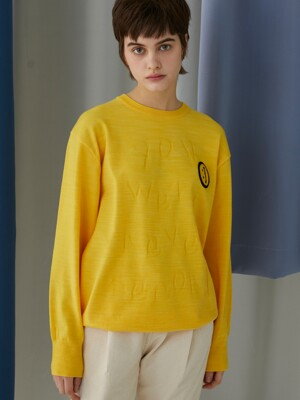 NEVER SECOND SWEATER YELLOW