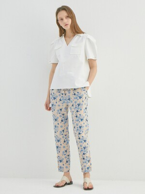 VERONICA BLUE FLOWER PANTS