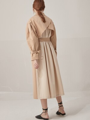 Signature volume trench coat - Beige