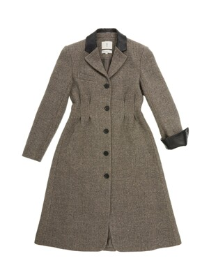REPUBLIQUE classic single button coat_Gray barleycorn check