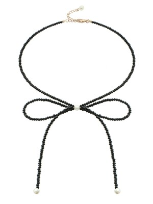 Beads Ribbon Necklace
