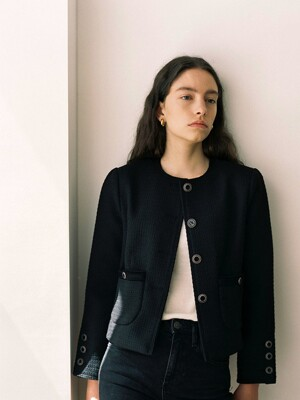 Classic Tweed Jacket_Black