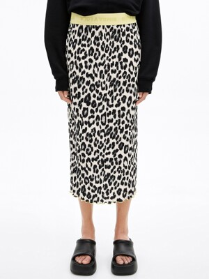 Animal print pleated skirt_B215AWS006BE