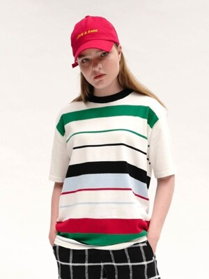 [UNISEX]RC MULTI-STRIPE KNIT TOP