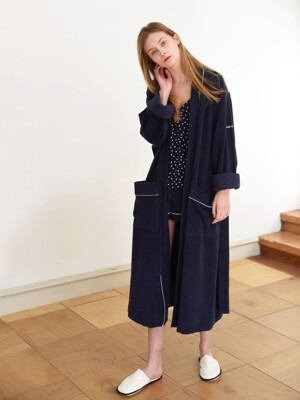 Terry Lounge & Bath Robe _ Navy