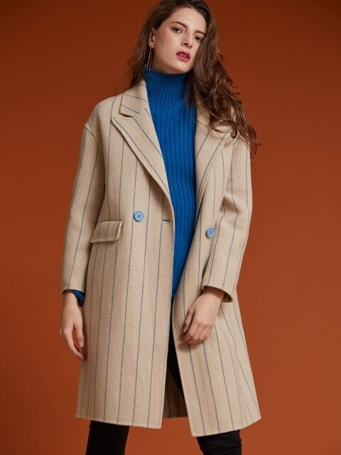 STRIPED HERRINGBONE COAT [HB-CO-501]