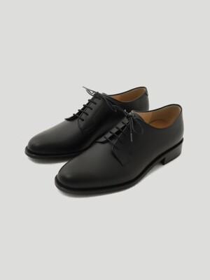 PLAIN TOE DERBY KIP BLACK (블랙무광)