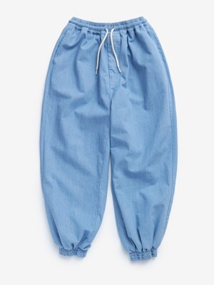 DENIM WIDE JOGGER (BLUE)