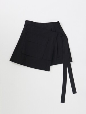 BANDING SHORT PANTS BLACK