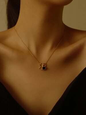 [단독]Heart Clover Necklace Gold