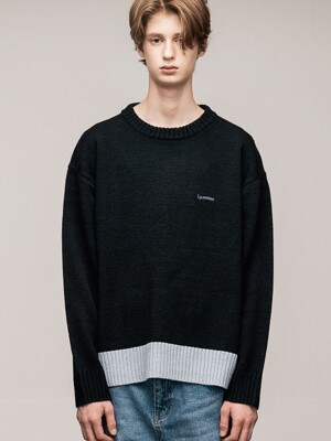 RIB POINT KNIT(BLACK)