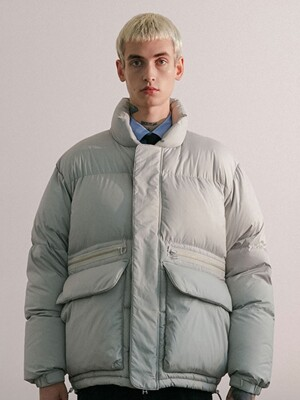 ZIPPER DOWN JACKET IA IVORY