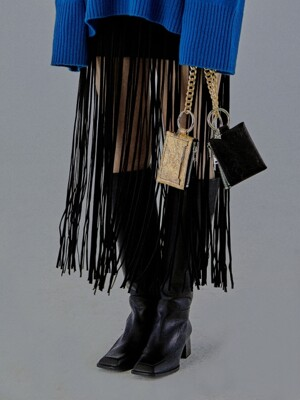 FRINGE BELT_ BLACK